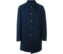 Einreihiger Mantel - men - Polyester/Kaschmir