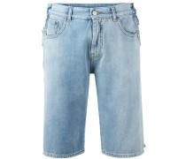 Jeansshorts mit Bortendetails