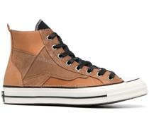 High-Top-Sneakers mit Kontrastschnürung