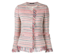 Tweed-Jacke mit Fransen - women
