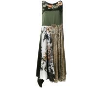 Asymmetrisches Kleid mit Blumen-Stickerei