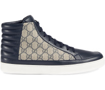 High-Top-Sneakers mit Monogrammmuster