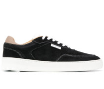 Spate contrast-stitching suede sneakers