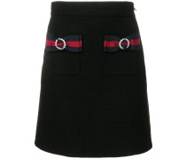 knitted skirt with Web bows