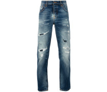 Jeans in Distressed-Optik - men - Baumwolle