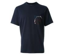 T-Shirt mit bedruckter Brusttasche