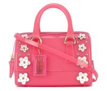 Handtasche mit Blütenapplikation - women