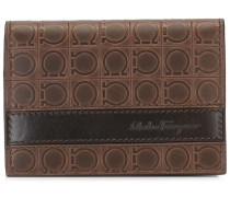 embossed Gancio flap wallet
