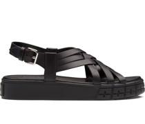 Flatform-Sandalen mit Schnalle