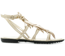 fringed multi-strap sandals