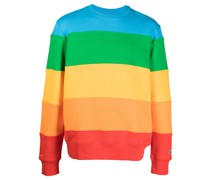crew-neck colour-block sweatshirt