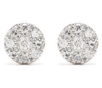 18kt Target Gelbgoldohrringe mit Diamanten