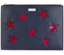 embroidered star clutch bag - women