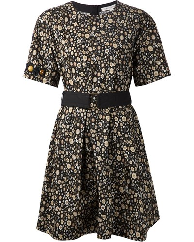 marc jacobs damen kleid mit blumen print 50 reduziert. Black Bedroom Furniture Sets. Home Design Ideas