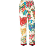 Pyjama-Hose mit Blumen-Print