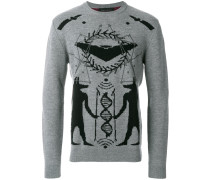embroidered fitted sweater