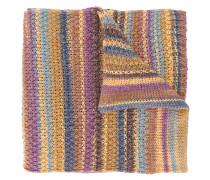 Gestrickter Schal mit Streifen