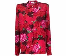 Seidenhemd mit Rosen-Print