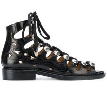 Sandalen mit Kristallverzierungen