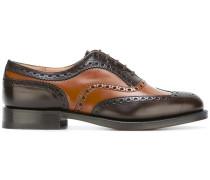 Oxford-Schuhe mit Kontrasteinsätzen