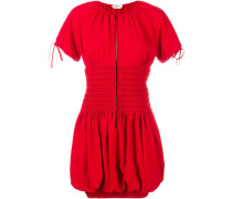 Smocked Short Sleeve Dress