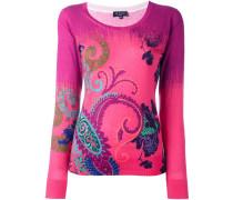 paisley print fine knit jumper