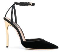 contrast heel pumps