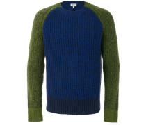 knit panelled jumper