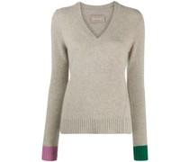 Nicko contrasting-cuff cashmere jumper