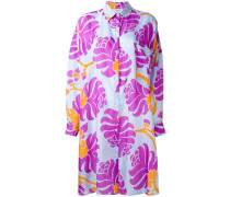 Hemdkleid mit abstraktem Print - women - Seide
