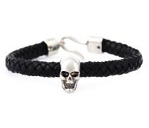 Geflochtenes Armband mit Totenkopfdetail