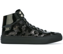 'Argyle' hi-top sneakers