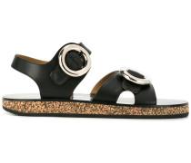 Sandalen mit runden Schnallen