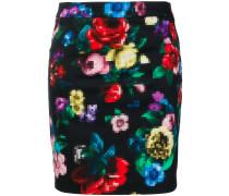 floral pixel tube skirt
