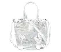 mirrored bucket bag