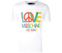 T-Shirt mit Friedenszeichen-Print - men