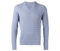 Pullover mit Zopfmuster - men - Seide/Baumwolle
