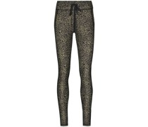 Yoga-Leggings mit Leoparden-Print