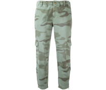 Cropped-Cargohose im Military-Look