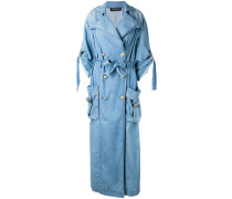 Oversized-Mantel mit Gürtel - women - Baumwolle