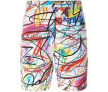 Shorts mit Kritzel-Print