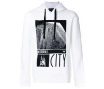 metropolis print hoodie