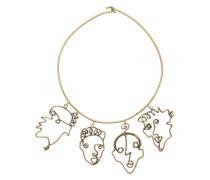 Halskette mit Gesichtern