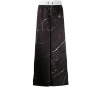 Weite Hose mit Marmor-Print