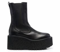 Gaucho platform sole ankle boots