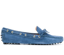 denim-effect boat shoes