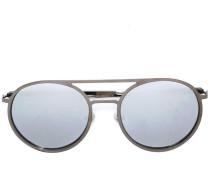 Runde Sonnenbrille mit Diamanten