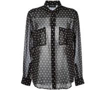 Semi-transparentes Hemd mit Punkten