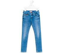 Skinny-Jeans mit Logo-Stickerei - kids