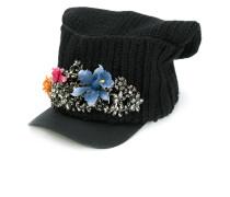 embellished flower cap